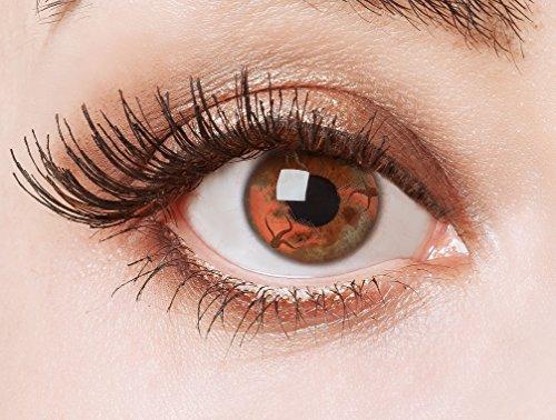 aricona Farblinsen rote Kontaktlinsen für ein Halloween Geister -