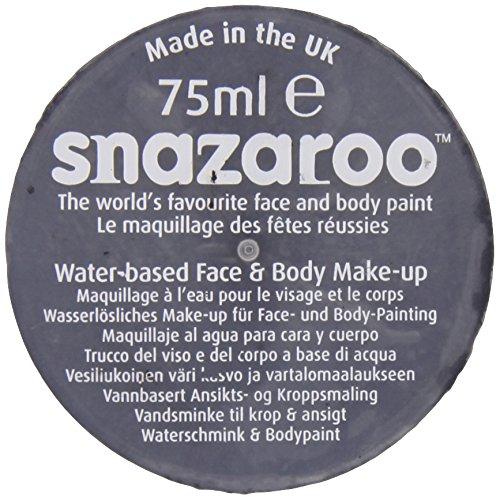 Snazaroo 1175111 Kinderschminke, hautfreundliche hypoallergene Gesichtschminke auf Wasserbasis, wasservermalbar, parabenfrei, schwarz, 75 ml Topf