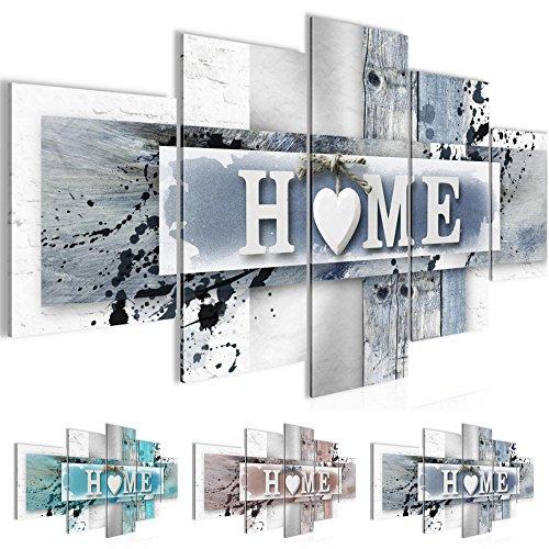 Bilder 200 x 100 cm - Home Bild - Vlies Leinwand - Kunstdrucke -Wandbild - XXL Format – mehrere Farben und Größen im Shop - Fertig Aufgespannt !!! 100% MADE IN GERMANY !!! - Haus – Willkommen 504551c