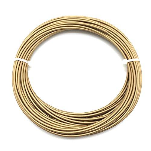 AptoFun Metal Filament (1,75mm, 25g, 190°C-230°C) mit Premium Qualität Drucker MakerBot RepRap MakerGear Ultimaker UVM/auch für 3D-Stifte, Metall, Brass, 26170,1 cm