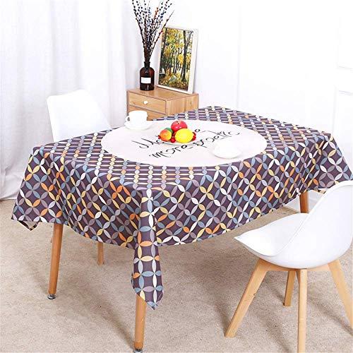 SONGHJ Leinen Baumwolle Home geometrische Tischdecke Weihnachten Tischdecke Rechteck Küche Wohnzimmer Dekoration wasserdichte Tischdecke D 140x160cm / 55x63in -