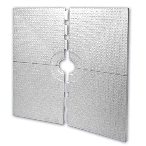 Schluter Kerdi Shower Tray 72x72 Center Drain Placement; Schluter Kerdi Shower Tray St-183 by Schluter Kerdi ST-183
