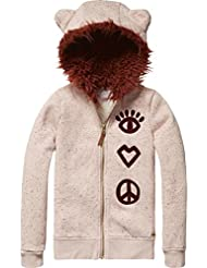 Scotch R'Belle Zip Through Hoody with Ears and Embroideries, Sweat-Shirt à Capuche Fille