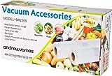 Andrew James Vacuum Food Sealer Rolls, 22cm Wide, 2 x 5m Rolls, 10m Total Length, Reusable, Microwave and Dishwasher Safe