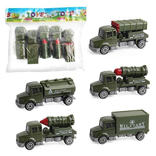 Forwei 8 Teile/Satz Militär Raketentransport Armee LKW Mega Russische Langstreckenrakete Dschungel Camouflage Spielzeug LKW -