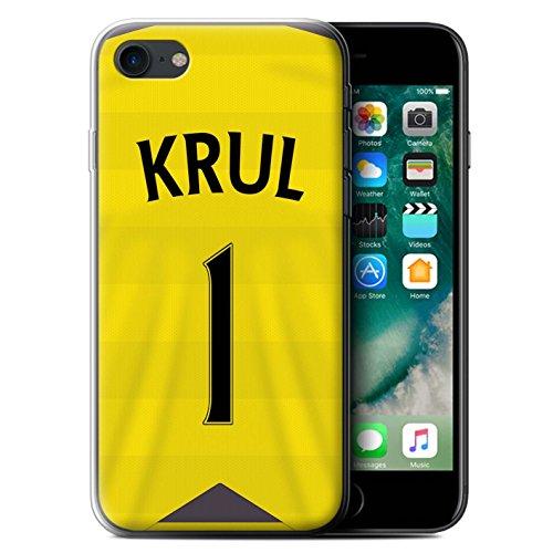 Officiel Newcastle United FC Coque / Etui Gel TPU pour Apple iPhone 7 / Shelvey Design / NUFC Maillot Domicile 15/16 Collection Krul