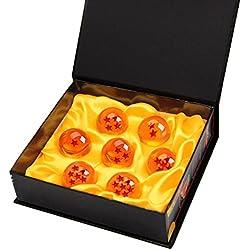 Bolas del Dragón DragonBall [7PCS],Vococal® DragonBall Z Bolas de Dragón 1 a 7 Estrellas con Caja de Regalo, Regalo de Año Nuevo para Coleccionar o Regalar para Niños/Anime Amante - Diámetro 4,2CM