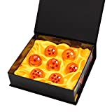 Dragonball Dragon Balle【7PCs】 , Vococal® Dragon Ball Z 1 à 7 Etoiles Boules de Cristal Dragon Ball et Boîtes-Cadeaux pour Enfant/Collection【4.3CM, Orange】