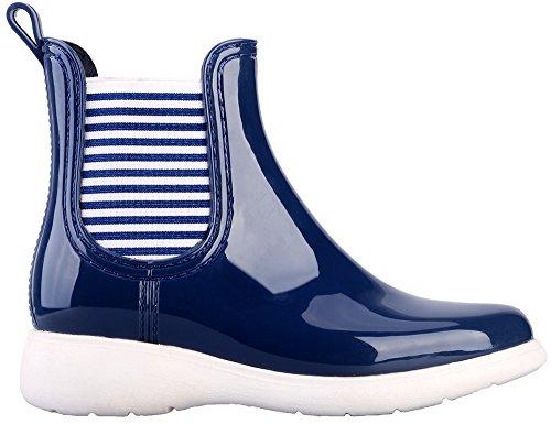 MaxMuxun Chaussures Femme Botte de Pluie En Caoutchouc EU 36-41 Bleu