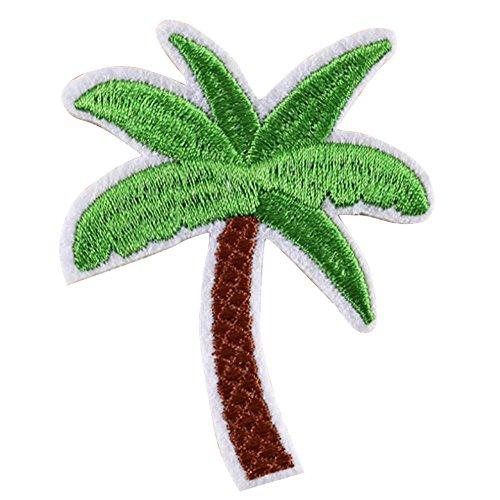 Kokosnuss-palmen (YQLCO Aufnäher für Kleidung, 5 Stück Kokosnuss-Palme, bestickter Aufnäher zum Aufbügeln Multi)