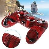 ATuniby Silicone Shell f¨¹r PS4 Controller mit 2 Joystickkappen Bumping Design f¨¹r Gamer M?nner Weihnachtsgeschenk (Rot)