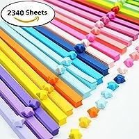 2340fogli di carta origami Stars doppio 25colori decorazione strisce di carta