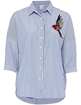 Camisa ICHI Asta Pájaro Azul