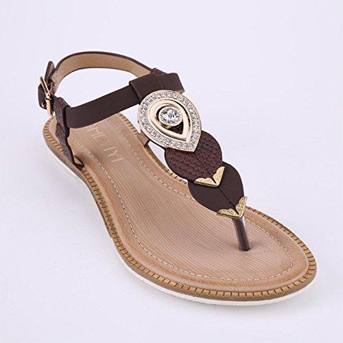 Sandali romani di stile estivo delle signore Brown