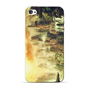 Inkif Printed Designer Case Mobile Back Cover For Apple Iphone 4S
