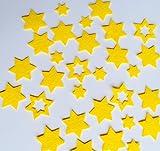 Stern, Sterne aus FILZ. Streudeko. 5 gr. ca. 30-45 Teile. Ca. 2-4 cm. In GELB gb