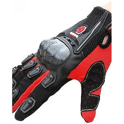 DZXGJ® de invierno de alta calidad a prueba de viento caliente protectores deportivos llenos del dedo bicicleta de carreras guantes de moto , dark red-xl , dark