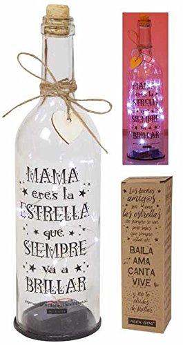 Roymart Botella con Mensaje y Luces LED
