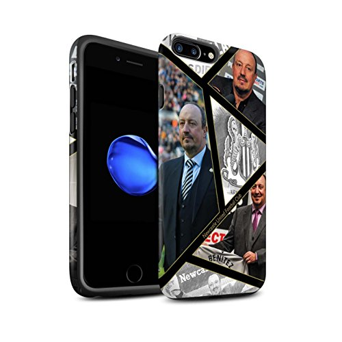 Offiziell Newcastle United FC Hülle / Matte Harten Stoßfest Case für Apple iPhone 7 Plus / Skizze Muster / NUFC Rafa Benítez Kollektion Montage