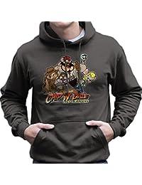 Chip N Dale Last Crusaders Indiana Jones Rescue Rangers Men's Hooded Sweatshirt