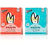 The Mumum Co. Super Sprinklies – Natural, Healthy Multigrain Cereal Snacks for Kids Combo – 20g x 4 (Pack of 2 Boxes) (1 box Apple & 1 Box Strawberry Banana)