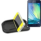 Self-adhesive rubber car mount for the dashboard / desk for Samsung Galaxy A3, black. smartphone holder mobile phone stand anti-slip mat - K-S-Trade (TM)