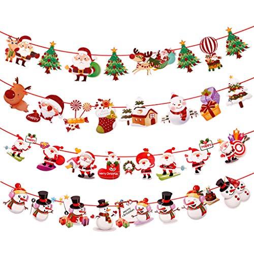 SunRay, Christmas Banner Wandbehänge Weihnachtsschmuck Anhänger Weihnachten Ornamente Frohe Dekorationen Für Zuhause