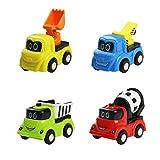 Fajiabao Mini Auto Giocattolo Cartone Giochi Costruzione Set Veicolo Gioco per Bambini 3 Anni, 4 Pezzi - Fajiabao - amazon.it