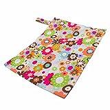 caseroxx Windeltasche/Wet Bag/Wickel Tasche mit Reißverschluss Premium Größe, Baby Strand- Badetasche Blumen Muster