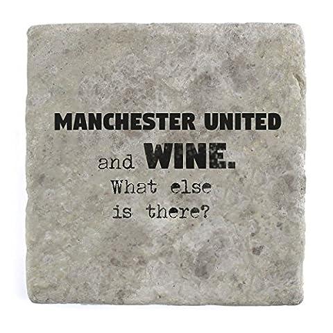 Manchester United Und Wein Was ist noch?–Marble Tile Drink Untersetzer (Manchester Zu Weihnachten)