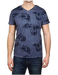 Stitch & Soul Men's Blue Floral T-Shirt In Size S Blue