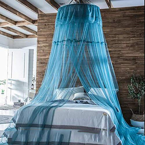 TQZ Spitzen-kuppel betthimmel, Kuppel Verschlüsselung Prinzessin moskitonetz Runde Haushalt Bett Baldachin vorhänge für Kinder fliegen insektenschutz Indoor-C 200x280cm(79x110inch) - Bett Baldachin-twin