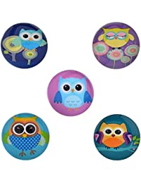 Morella–® de mujer Click Button Set 5Unidades Botones de presión búho paraíso