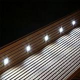 LED Bodeneinbaustrahler 10er Set BES-S2 kalt weiss eckige Bodenstrahler