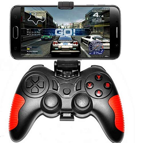 L&WB Drahtloser Gamepad Gamepad Bluetooth Android IOS System 360 ° Joystick Jungen (Rot)