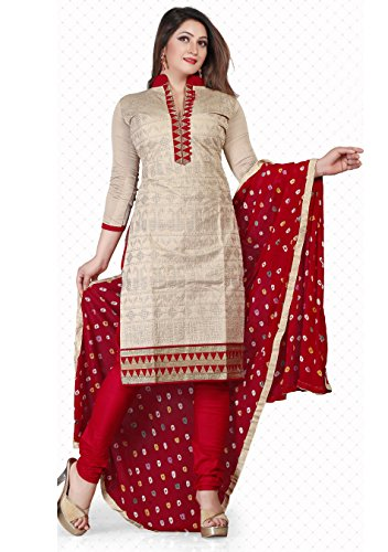 Sundram Fab New Fashionable Beige Embroidery Salwar Suit … image - Kerala Online Shopping