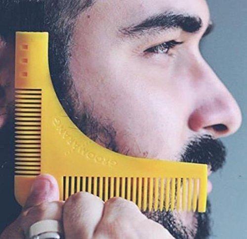 Bart-Formwerkzeug, YooGer Bart-Pflege-Former und Styling-Vorlage-Kamm für Mann ()