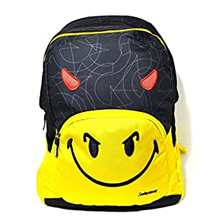 51JcU1jc1IL. SS324  - Mochila Smiley World Organizzato Fantasia Amarillo Negro Smile Escuela oferta New