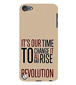 Change it to Rise 3D Hard Polycarbonate Designer Back Case Cover for Apple iPod Touch 5