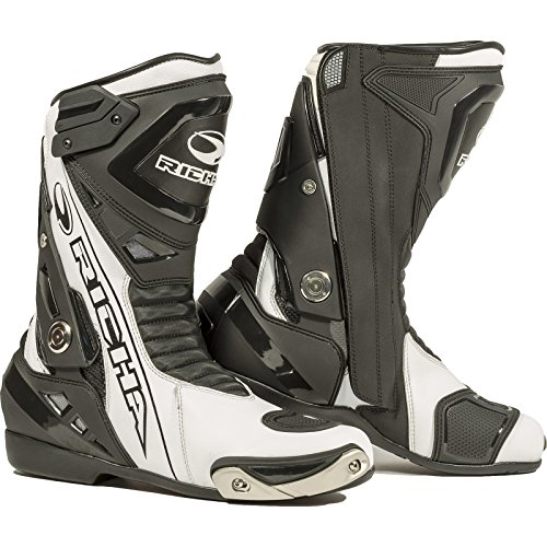 Richa Blade Waterproof Motorcycle Boots 47 Black White (UK 13)