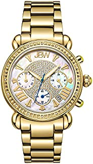 JBW Luxury Women's Victory 16 Diamonds Mother of Pearl Chronograph Watch - JB-62