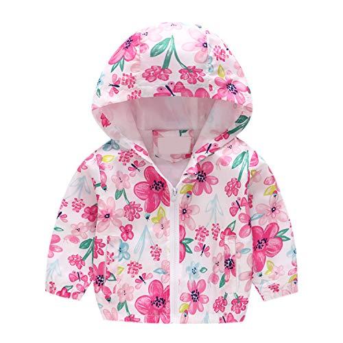 by Junge Mädchen Kinder Jacke Kapuzen Jacke Sweatjacke Kapuzenjacke Cartoon Aufdruck Winddicht Windjacke Frühling Herbst Outwear 90-130cm ()