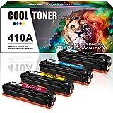 Cool Toner 4 Pack Kompatibel für HP 410A 410X CF410A CF411A CF412A CF413A HP410A Toner für HP Color Laserjet Pro MFP M477fdw M477fdn M477 M 477 377 Drucker HP M452, Schwarz & Color je 2.300 für