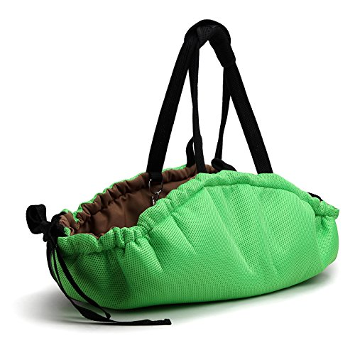 HOGAR AMO Multifunktionale Hundebett Atmungsaktives Mesh Haustier Bett Matte für Kleine Hund Katze Haustier Faltbare Tragbare Tasche Hundekissen Ø80×2CM
