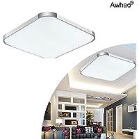Awhao Lámparas del techo LED 12W 24W 36W 54W 72W Bombillas del techo Ahorro De Energía Iluminación de Interior Luz de blanca fría [Clase de eficiencia energética A+++] (36W)