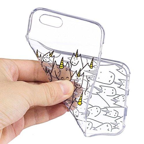 Per iPhone 6 Plus / iPhone 6S Plus Cover , YIGA corona imperiale Cristallo Trasparente Silicone Morbido TPU Case Shell Caso Protezione Custodia per Apple iPhone 6 Plus / iPhone 6S Plus (5.5) LF11