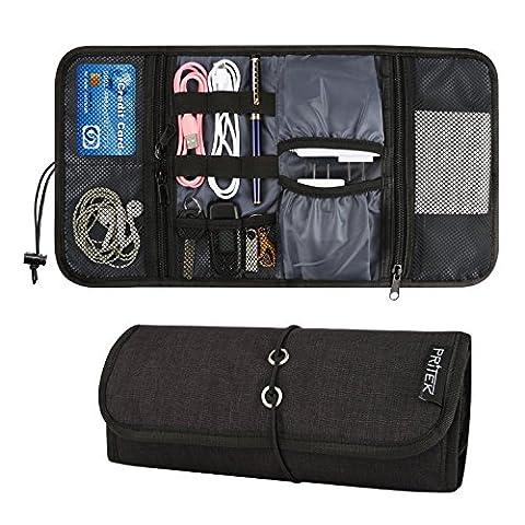PRITEK Tragbare Reisetasche Universaltasche Elektronik-Zubehör Tasche, Reiseorganisator, Kabel,Reisekoffer, Kosmetiktasche