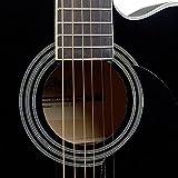 Stagg sa20ace BLK Auditorium Guitare électro-acoustique à pan coupé-Noir