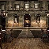 ZAMLE Benutzerdefinierte 3D Wandbild Europäischen Gebäude Stil Tapete Bar Cafe Lounge Restaurant Ktv Hotel Hintergrund Tempel Boden Tapete Wandbild, 430X300 Cm (169,3 Von 118,1 In)