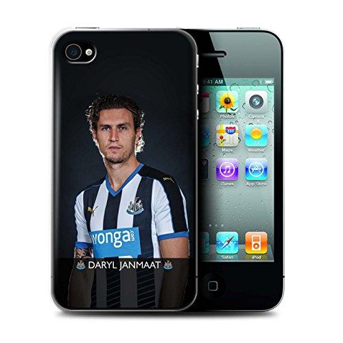 Officiel Newcastle United FC Coque / Etui pour Apple iPhone 4/4S / Pack 25pcs Design / NUFC Joueur Football 15/16 Collection Janmaat